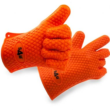 Silicone BBQ/Oven Gloves/Grill Lovers - Highest Rated Heat Resistant *One Size Fits Most